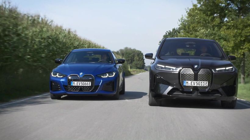 The first-ever BMW iX Driving and Charging - BMW iX and BMW i4