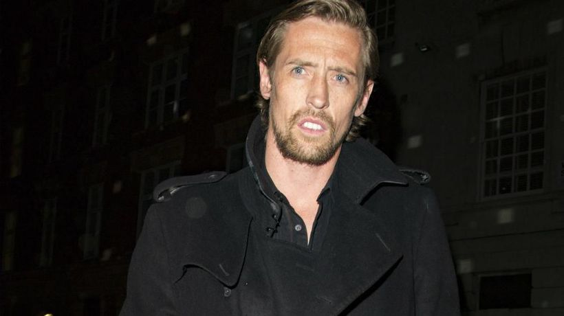Peter Crouch guards mansion with life-size cardboard cut out