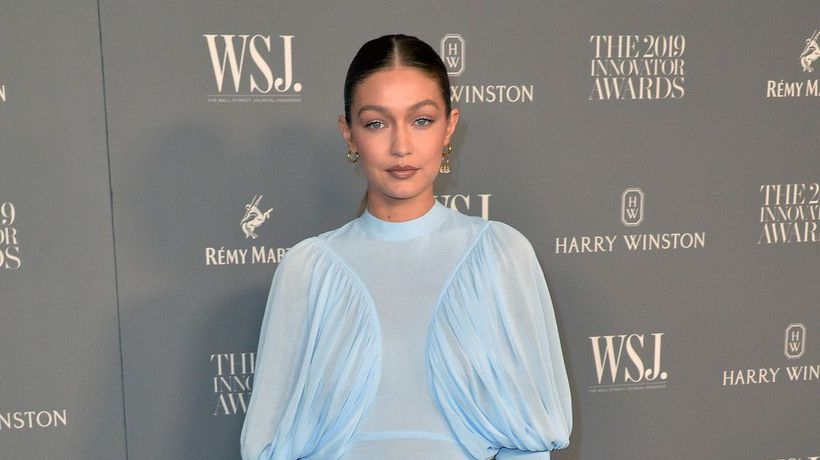 Gigi Hadid is obsessed with gloves this season