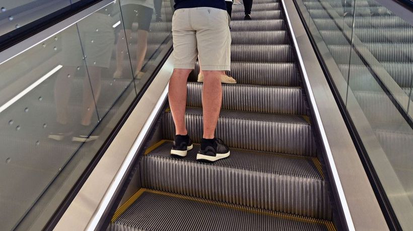 Japanese district is banning people from walking on escalators