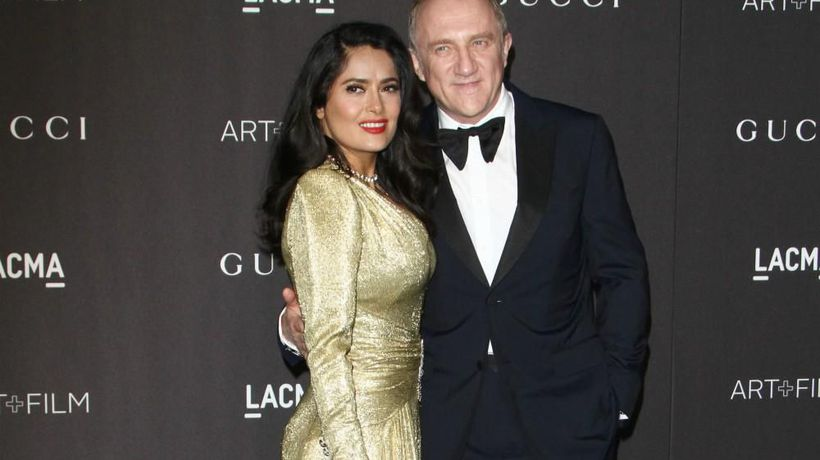 Salma Hayek 'proud' of husband after EUR100m Notre-Dame pledge