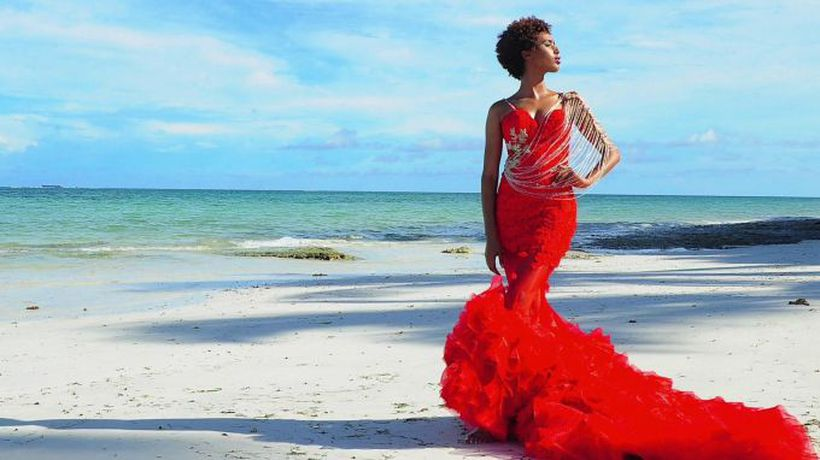 'Coloured wedding dresses are a trend'
