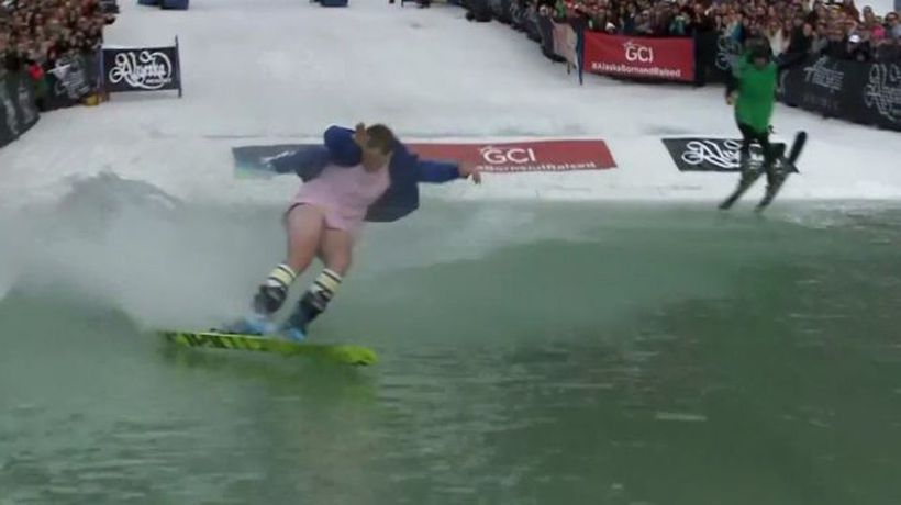 Snow skiing to water skiing
