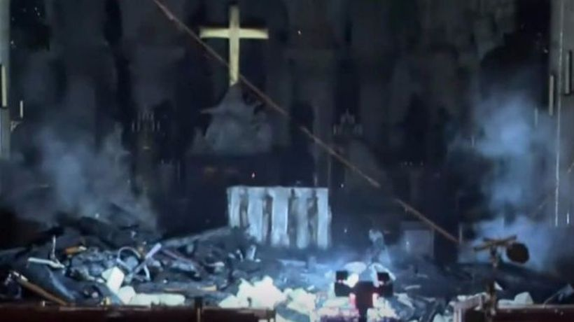 First look inside Notre-Dame after fire