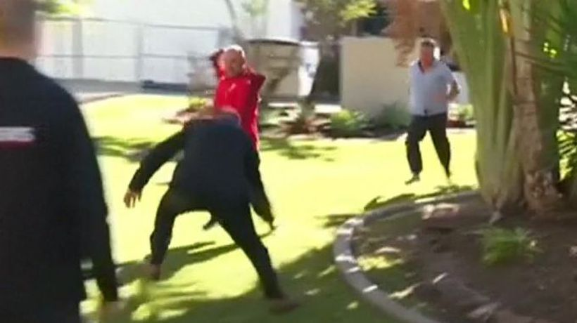Rugby-playing detective tackles intruder