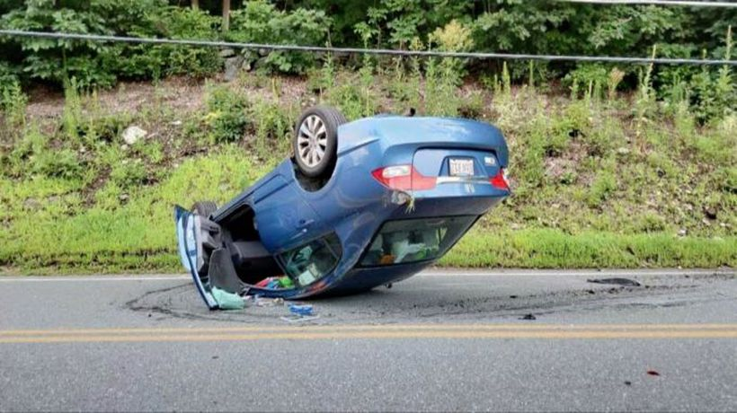 Texting while driving crash caught on camera
