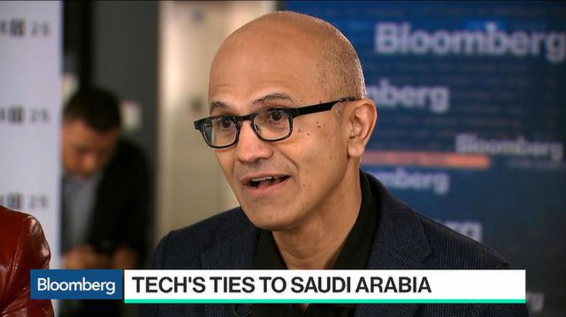 Bloomberg Technology - Microsoft CEO Nadella Says Missing Journalist a 'Step Back' for Saudi Arabia
