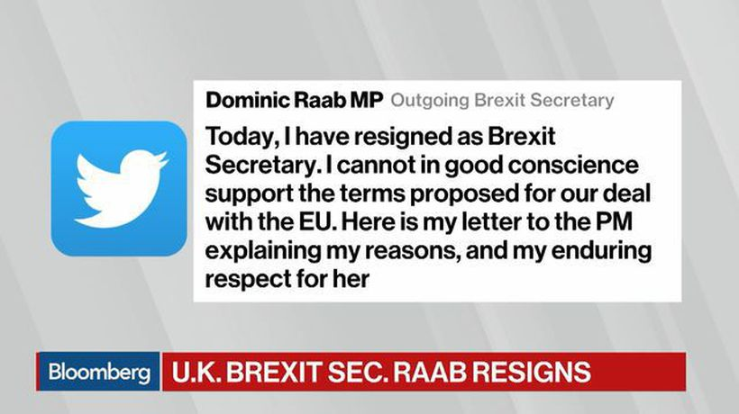 Bloomberg Markets: European Open - Brexit Secretary Dominic Raab Resigns From U.K. Government