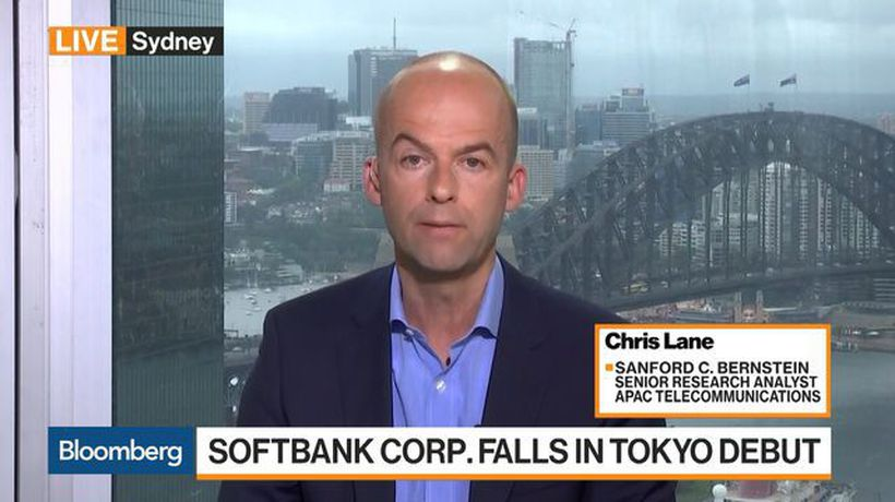 Bloomberg Markets: Asia - SoftBank Corp. a 'Tough Sell' for Institutional Investors, Analyst Lane Says