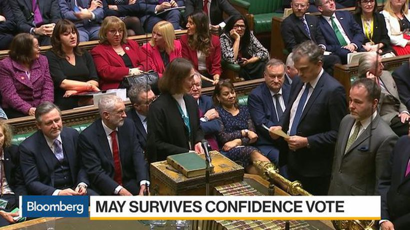 Bloomberg Daybreak: Europe - May Survives No Confidence Vote, But Tough Brexit Talks Lie Ahead