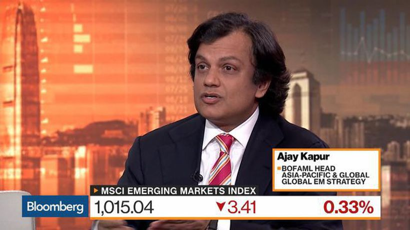 Bloomberg Markets: Asia - Appetite for Risk in Asia, EM Is Exceptionally Low, Says BofAML's Kapur