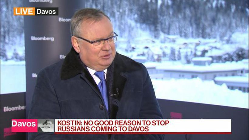 Bloomberg Markets: European Open - No Good Reason to Stop Russians Coming to Davos, Says VTB Bank's CEO