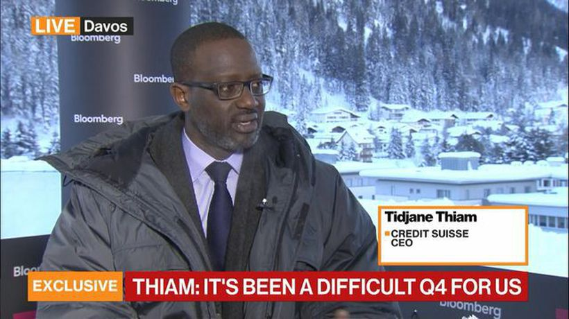 Bloomberg Markets: European Open - It's Been a Difficult 4Q for Us, Says Credit Suisse's Thiam