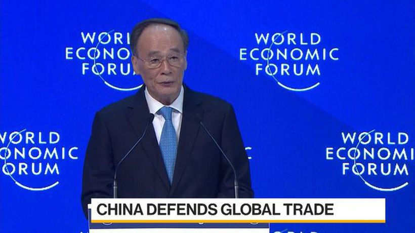 Bloomberg Daybreak: Australia - China Vice President Uses Davos Speech to Offer Rebuttal of Trump
