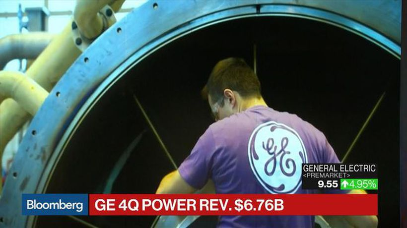 Bloomberg Surveillance - GE Misses 4Q EPS Estimates, Beats on Revenue