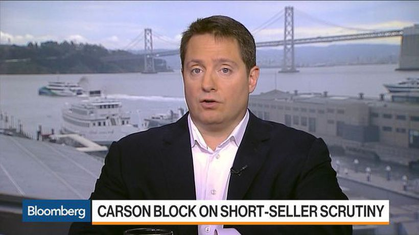 Bloomberg Markets - Carson Block Says 'Skeptical' of Activist Short-Seller Abuses
