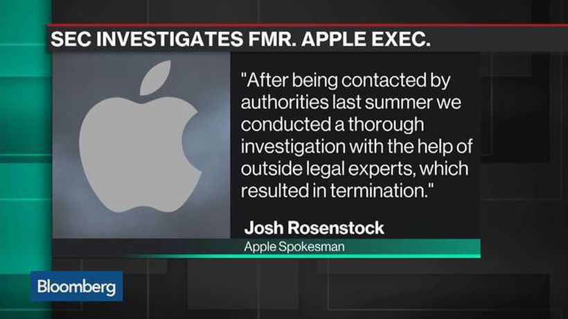 Bloomberg Technology - SEC Charges Apple's Ex-Watchdog With Insider Trading
