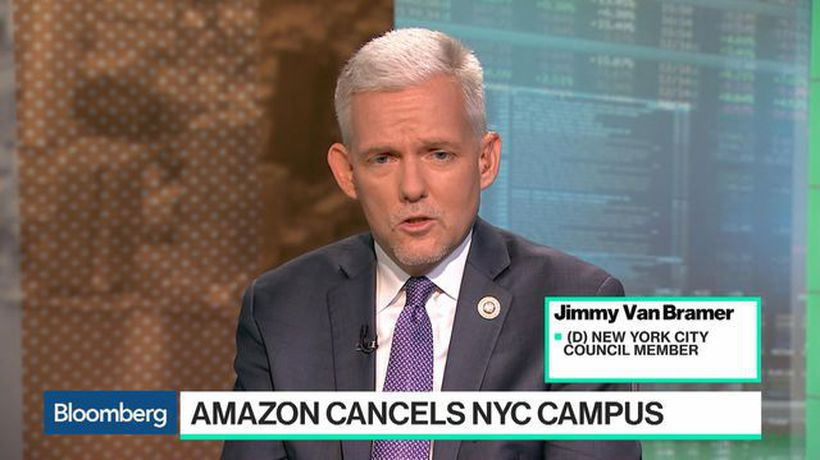 Bloomberg Technology - Amazon Scrapping HQ2 Is a Victory for New York City, Council Member Van Bramer Says