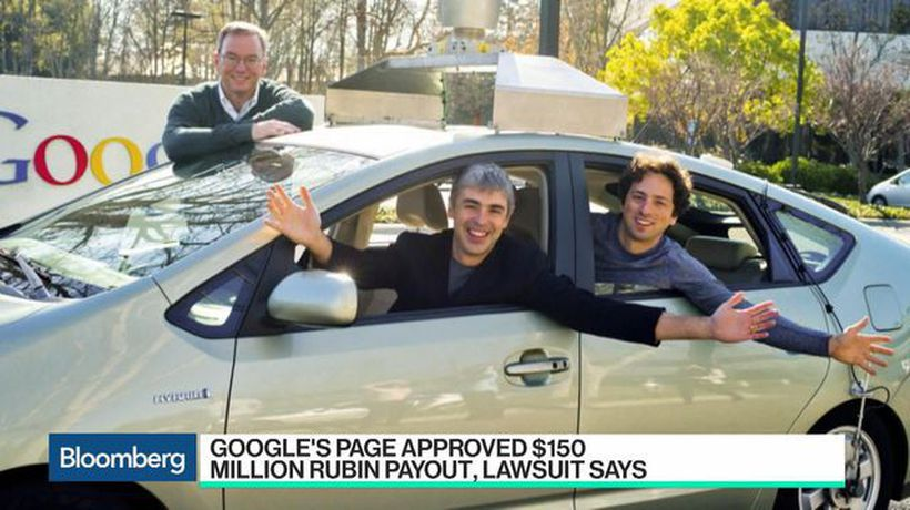 Bloomberg Technology - Google's Page Approved $150 Million Rubin Payout, Lawsuit Says
