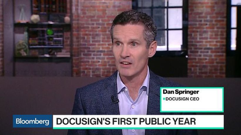 Bloomberg Technology - How DocuSign Plans to Keep Adobe and Dropbox at Bay