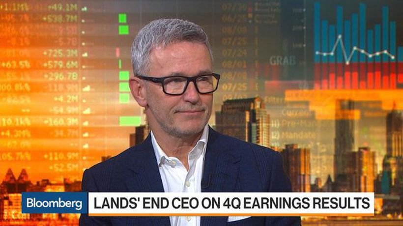 Bloomberg Markets - Lands' End Seeing Double-Digital Increases in Brick-and-Mortar, CEO Says