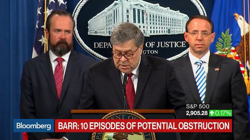 Barr Says Mueller Report Shows No Obstruction by President Trump