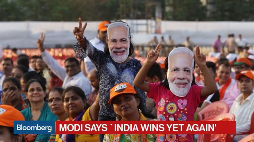 Modi Claims Election Victory Saying `India Wins Yet Again'