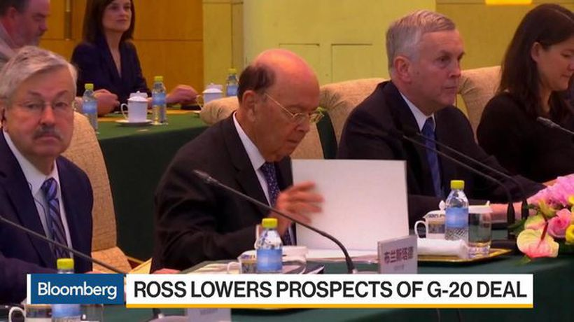 Ross Downplays Prospect of U.S.-China Trade Deal at G-20
