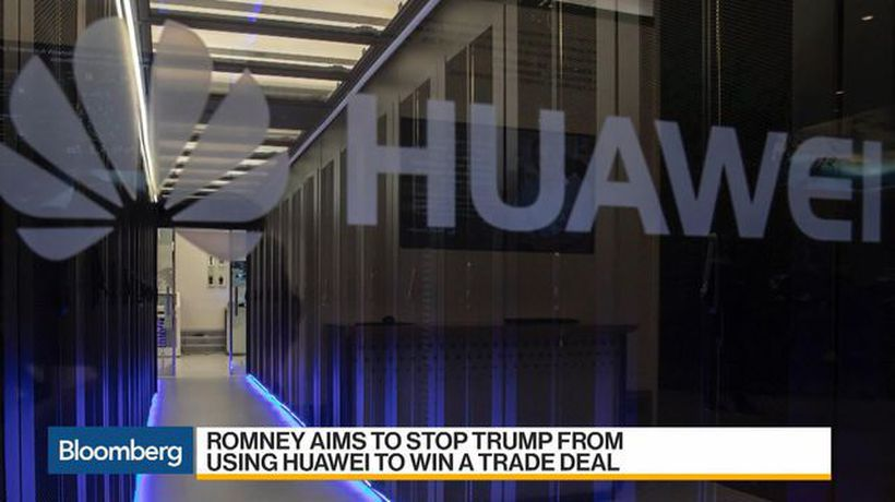 Romney Aims to Stop Trump From Using Huawei to Win a Trade Deal
