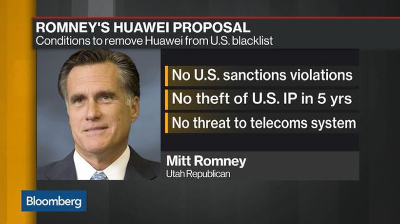 Sen. Romney Pushes to Stop Trump From Using Huawei to Get Trade Deal