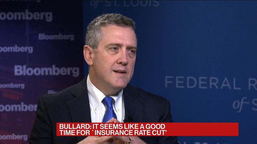 Bullard Says Current Situation Doesn't Call for 50-Basis-Point Rate Cut