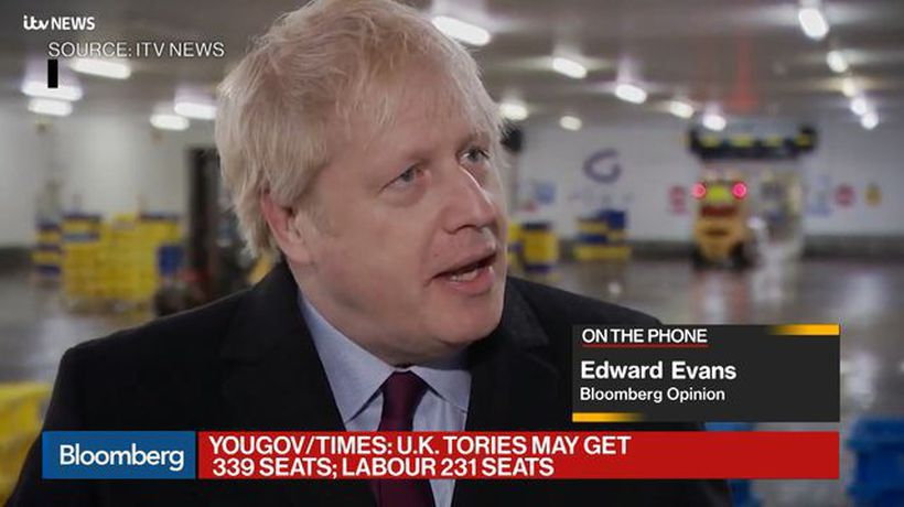 Johnson's Lead Cut in Key Forecast Ahead of U.K. Election