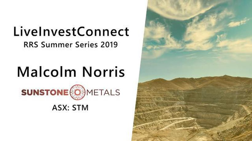 RRS Summer Series 2019 - Sunstone Metals