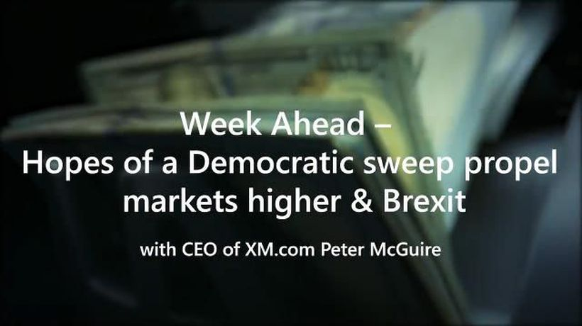 Week Ahead – Hopes of a Democratic sweep propel markets higher & Brexit