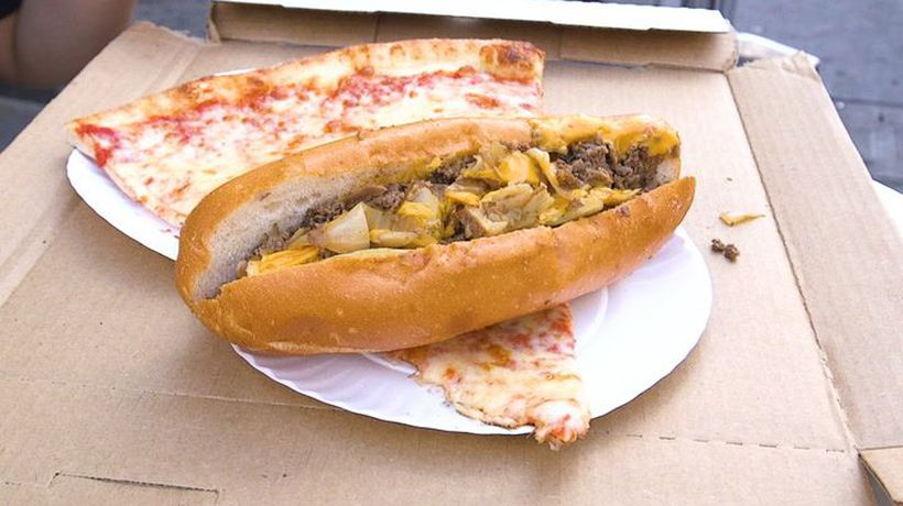 A Philly taco is a cheesesteak wrapped in pizza