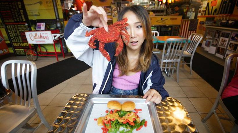 Would you eat this crab fried in Hot Cheetos?