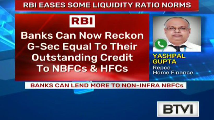 RBI eases some liquidity ratio norms
