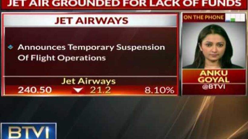 Jet Grounded for lack of funds, Operations suspended temporarily