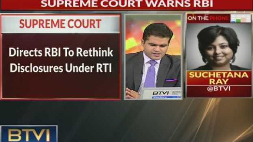 SC Warns RBI, gives last chance to reveal information under RTI