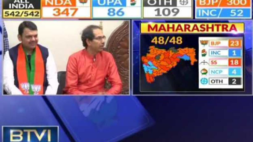 Uddhav Thackeray addresses media alongside Devendra Fadnavis