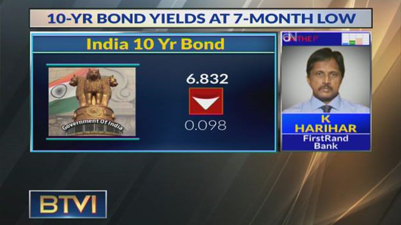 Expect Bond Yields To Drop To Levels Of 6.75%: K Harihar, FirstRand Bank