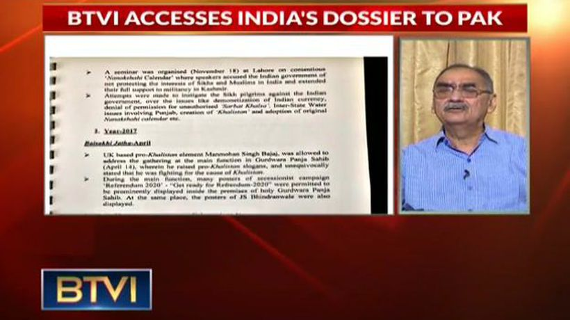 India Sends Dossier To Pak On Khalistani Activities