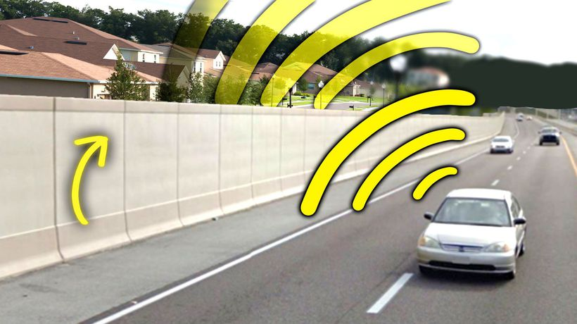 How Highway Noise Barriers Can Make Traffic Louder