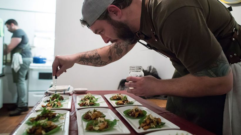 Chef serves dinner guests pot-laced dishes