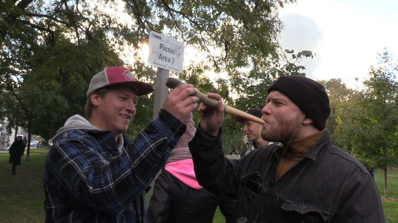 Giant joints, dance parties mark 4:20 on legal weed Day 1