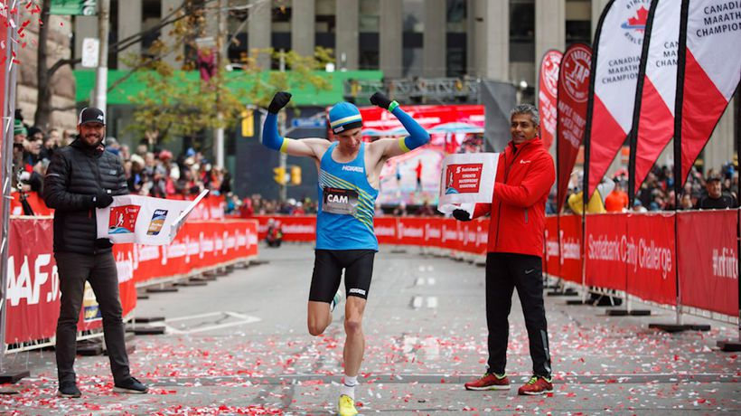 Cam Levins sets new Canadian record in his marathon debut