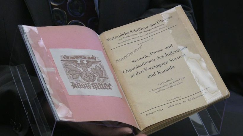 Canada's archive buys 'creepy' book owned by Adolf Hitler