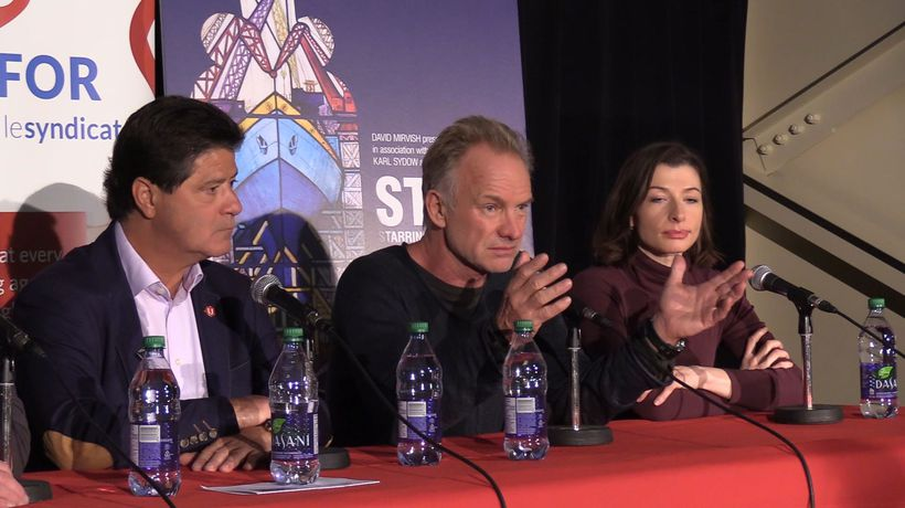 Sting sings in support of GM workers