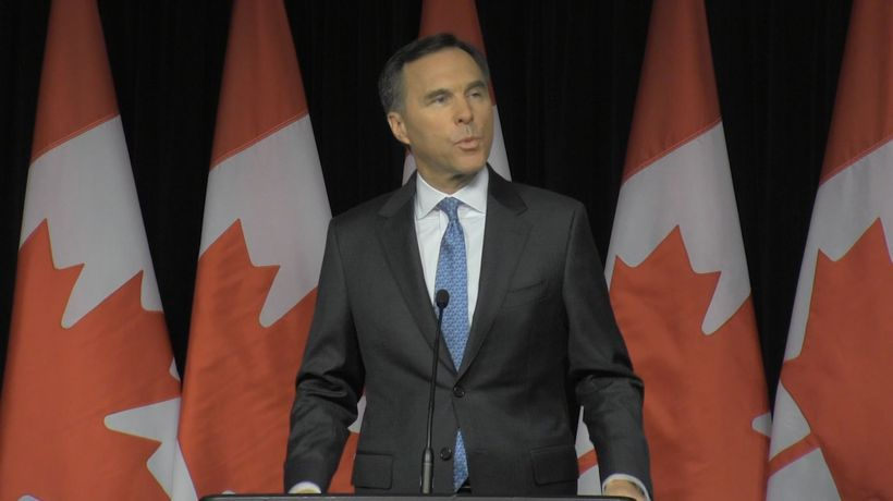 Finance Minister Bill Morneau discusses the federal budget, Conservative Leader Andrew Scheer and ND