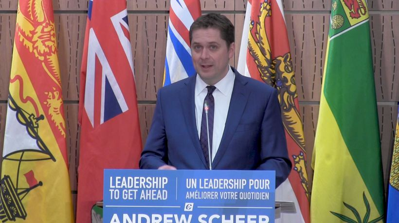 Conservative Leader Scheer rallies party caucus against Trudeau budget
